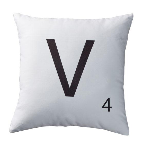 Letter Box Cover B Q: Personalized Letter Tile Pillow