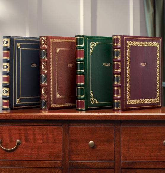 Distinctive Library Leather Personalized Photo Album