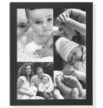 Baby 5 Photo Custom Collage Canvas
