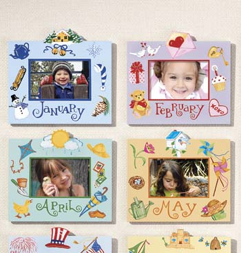 Merry Month Handpainted Picture Frames
