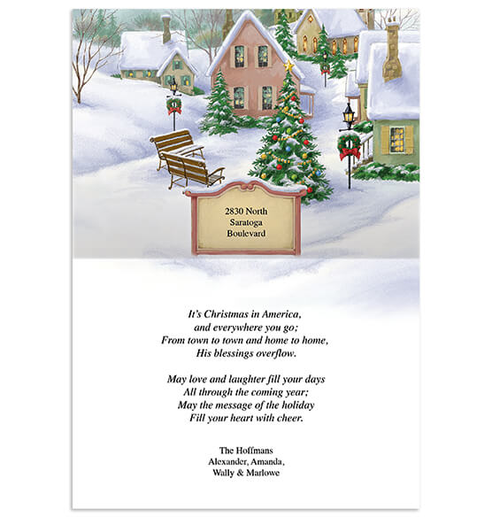 Personalized God Bless America Christmas Card Set of 20 - View 2