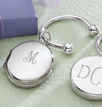 Monogrammed Photo Keyrings