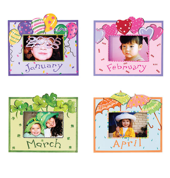 Whimsical Month Frame - View 2