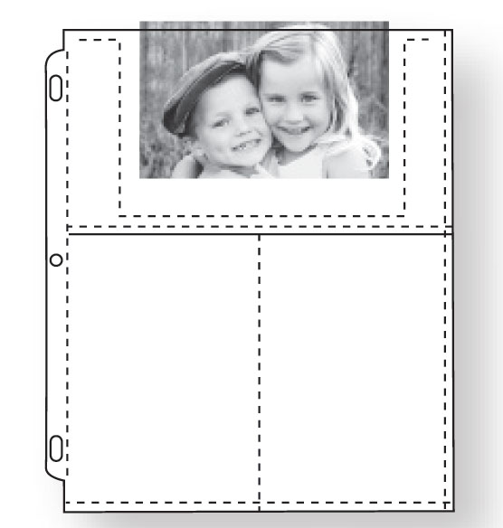 Double Weight 4 x 6 Photo Pocket Pages - Set Of 10 - View 2