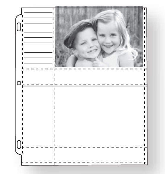 Double Weight 4x6 Memo Photo Pocket Pages With ID Labels - Set Of 10 - View 2