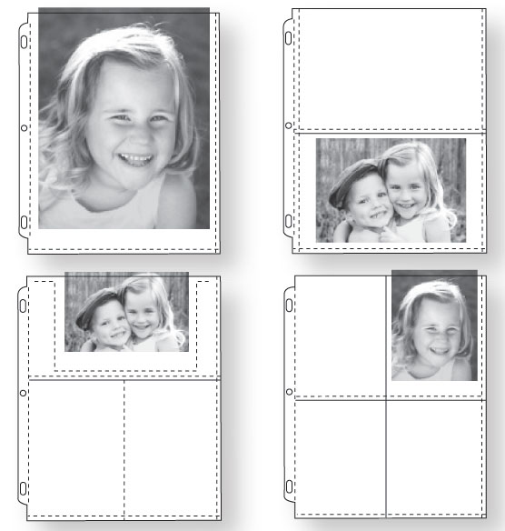 Photo Album Pages – Double-Weight Assorted Photo Pages - View 2
