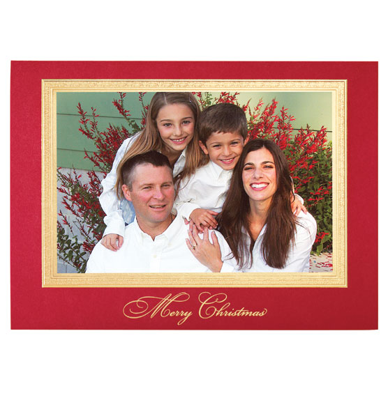 Traditional Merry Christmas Photo Christmas Card - View 2