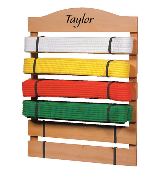 Personalized Karate Belt Rack - View 2
