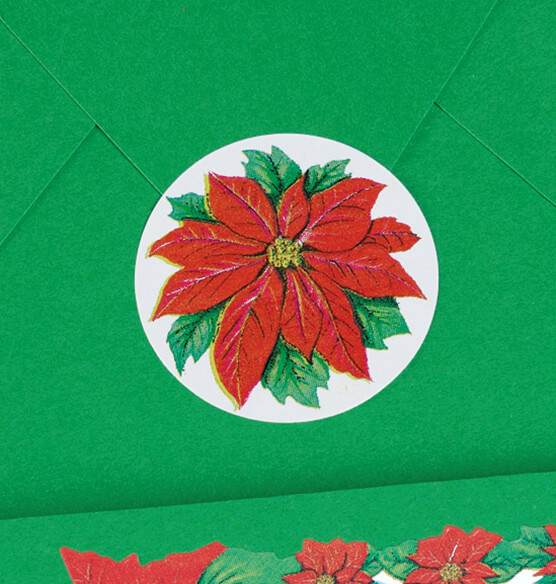Poinsettia Seals Set of 250 - View 2