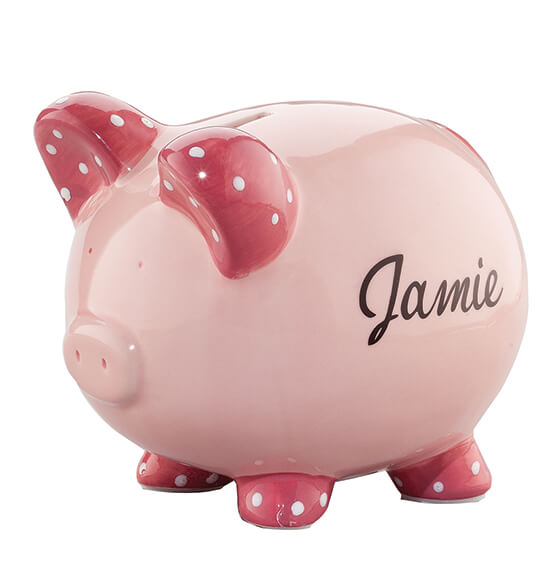 Personalized Children's Piggy Bank - View 3