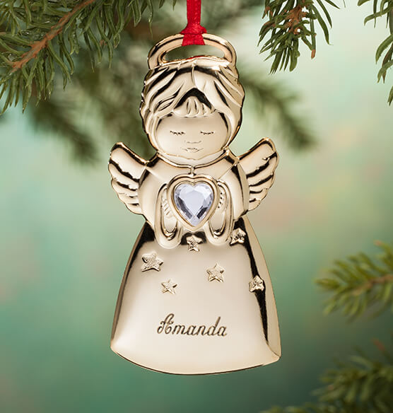 Personalized Angel Christmas Ornament - View 2