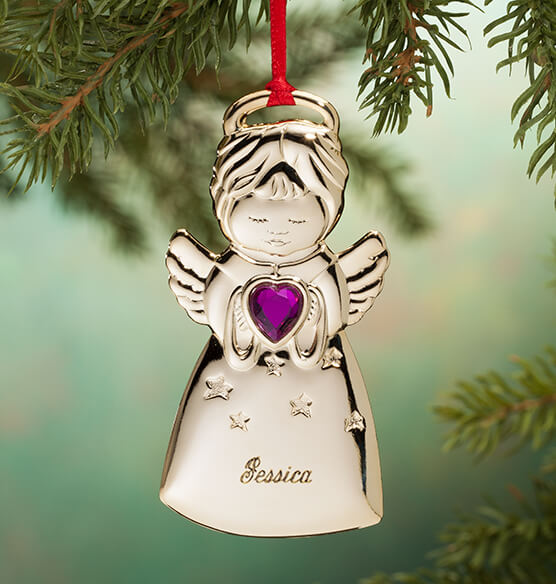Personalized Angel Christmas Ornament - View 3