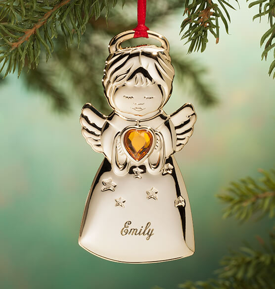 Personalized Angel Christmas Ornament - View 4