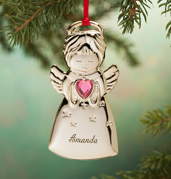 Personalized Angel Christmas Ornament - View 5