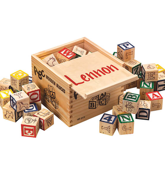 Personalized Box of Blocks - View 2