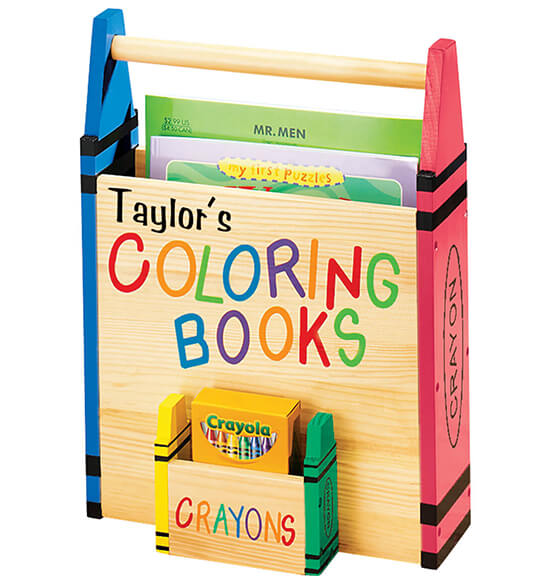 Personalized Coloring Book Caddy - View 2