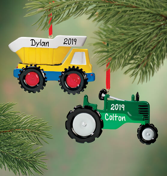 Personalized Tractor Ornament - View 2