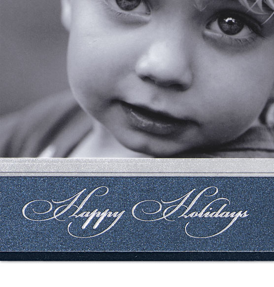 Classic Happy Holidays Photo Christmas Card Set of 18