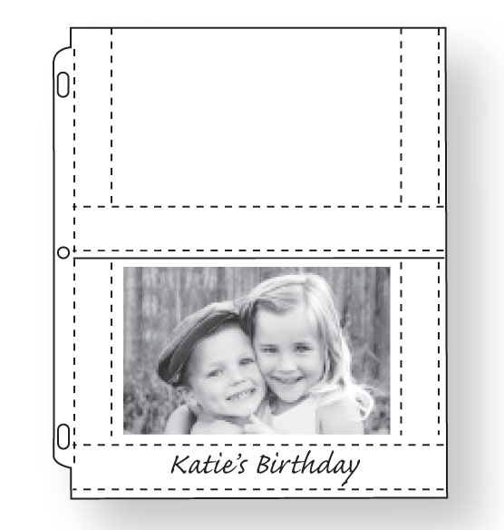 Double Weight 4x6 Photo Pocket Pages With ID Labels - View 2