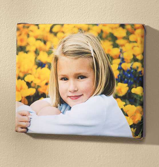 8x10 Custom Photo Canvas - View 2