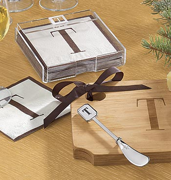 Personalized Cutting Board and Napkins