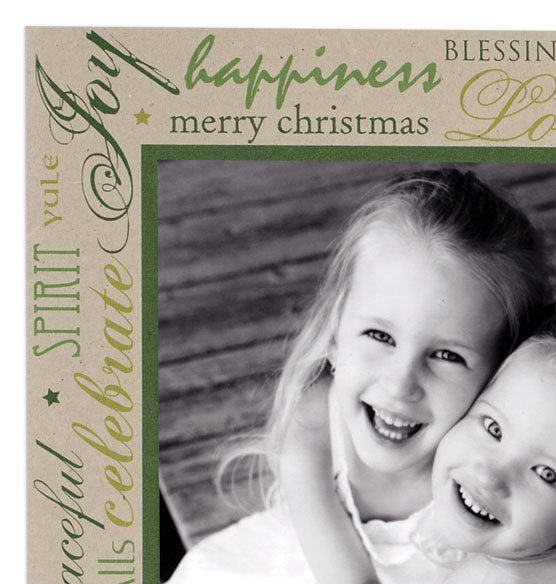 Holiday Tidings Photo Christmas Card Set of 18