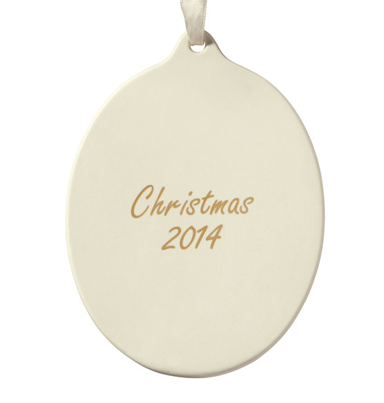 Custom Vertical Porcelain Photo Ornament - View 2