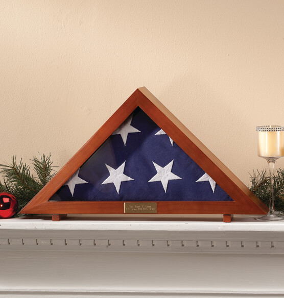 Personalized Veterans Flag Display Case - View 2
