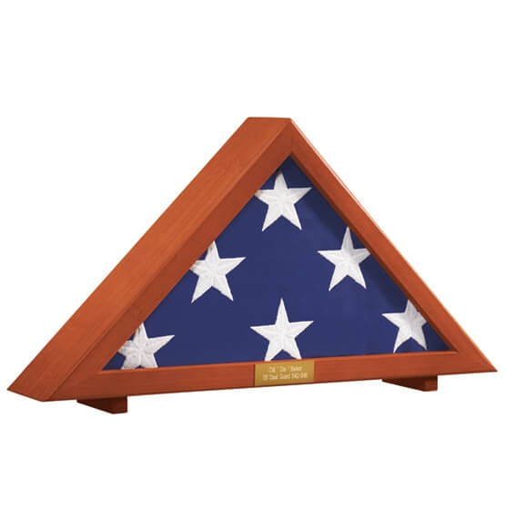 Personalized Veterans Flag Display Case - View 4