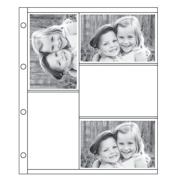 Oversized 4x6 Photo Album Refill Pages - View 2