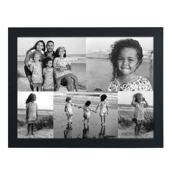 Custom 5 Photo Collage Canvas 11 x 17 Unframed - View 2