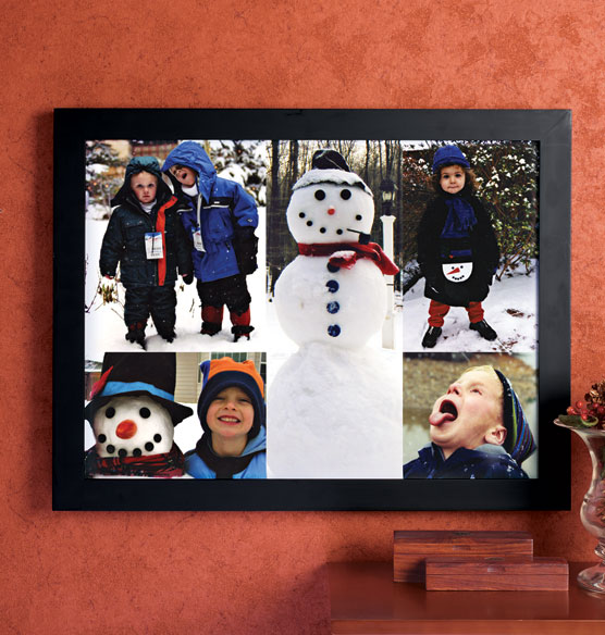 Custom 5 Photo Collage Canvas 11 x 17 Unframed - View 3
