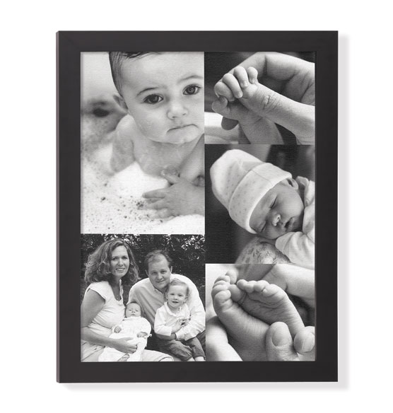 Custom 5 Photo Collage Canvas 18 x 24 Unframed - View 2