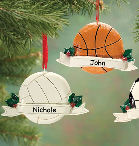 Personalized Sports Ornament - View 2