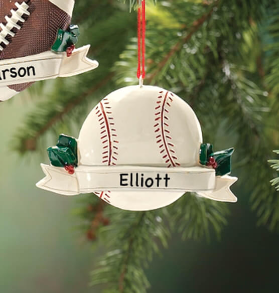 Personalized Sports Ornament - View 4