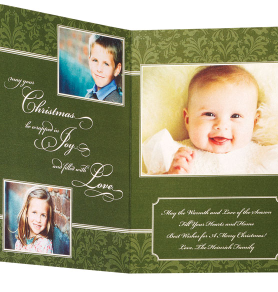 * Christmas Wishes Collage Card Set of 20