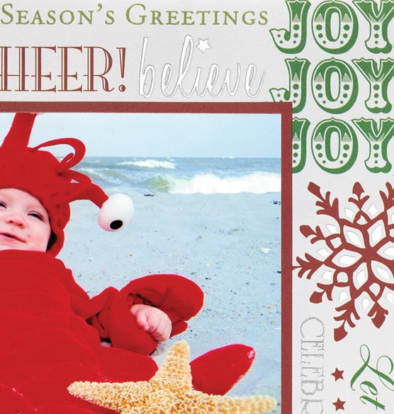 Jolly Christmas Photo Christmas Card Set of 18
