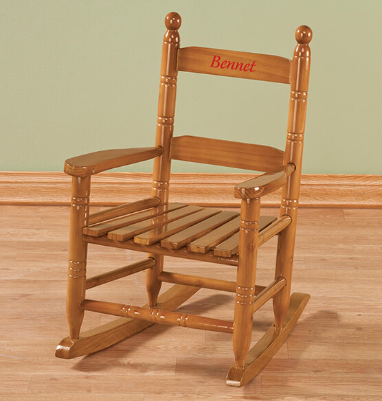 Personalized Childs Natural Rocker - View 4
