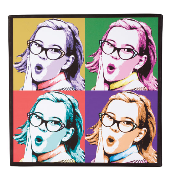 Personalized pop art canvas 18 x 18
