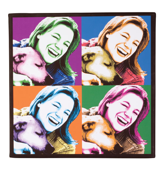 "Personalized Pop Art Canvas - 18"" x 18"" - View 4"