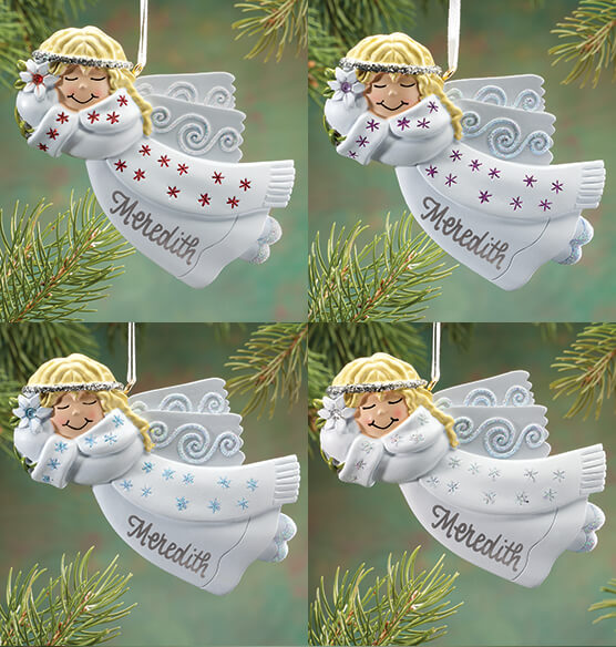 Personalized Birthstone Angel Ornament - View 2