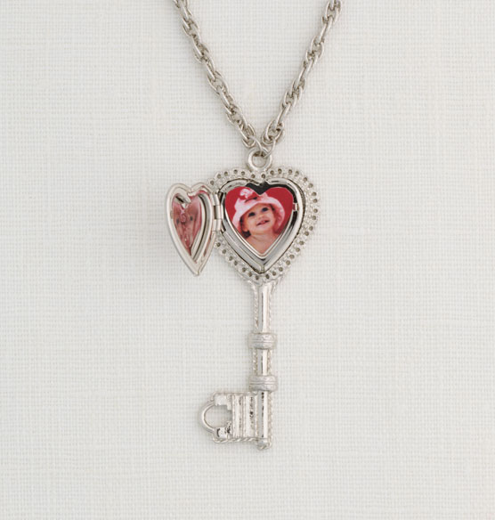 Personalized Heart Key Locket - View 2