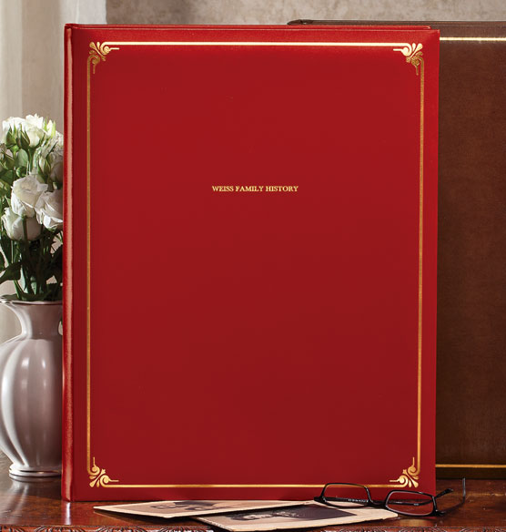 Personalized Leather Oversized Scrapbook - View 2