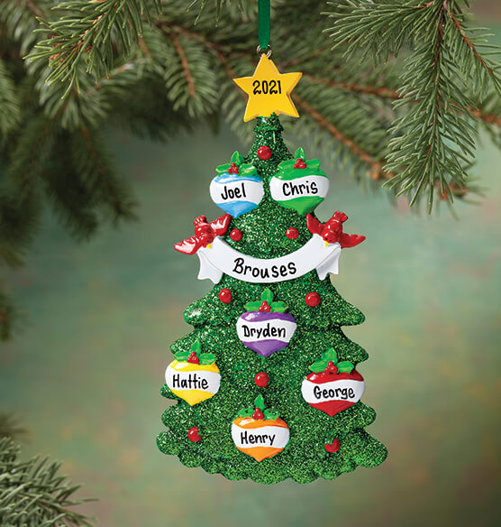 Personalized Glitter Tree Ornament - View 5