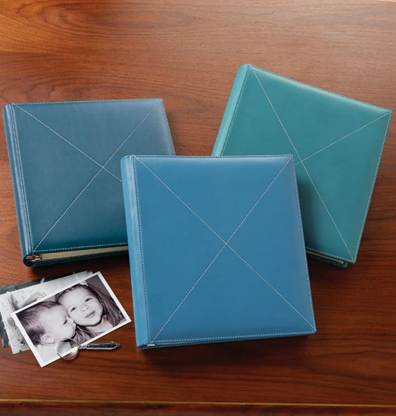 Cross-Stitch Leather Photo Album – Three-Ring Album - View 2