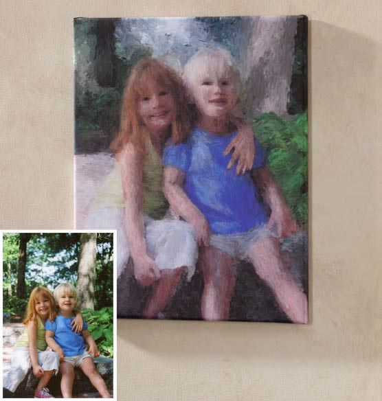 Impressionist Photo Canvas - 11 X 17 - View 3