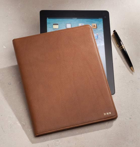 Leather Tablet Carrier Personalized - View 4
