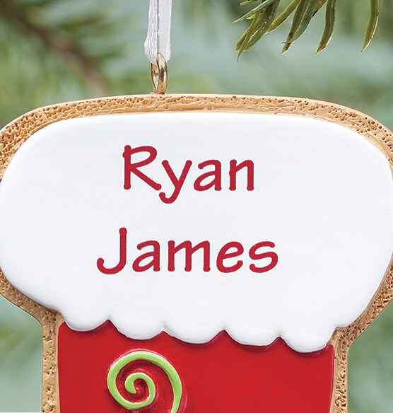 Personalized Stocking Christmas Cookie Ornament - View 2