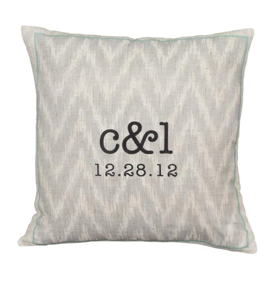 Ikat Personalized Pillow - View 3