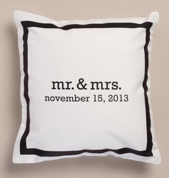 Mr. & Mrs. Personalized Pillow - View 2